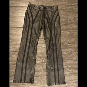 Harley-Davidson Pants - Harley Davidson Leather Pants in Black Size 8